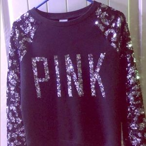 Black and silver sequins sweater